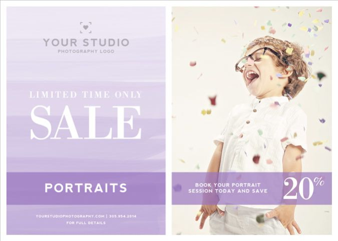 Photography Marketing Template: Minimal Ombre Watercolor