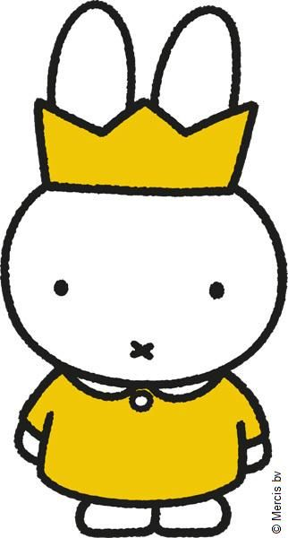 Then Miffy Bunny had a dream which made her feel so grand She dreamed she was the Queen of Rabbits ruling Rabbit Land