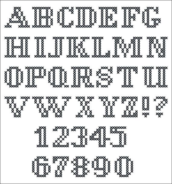 Small Cross Stitch Alphabet Pdf Monogram Little Block Font Cross Stitch Alphabet Cross Stitch Alphabet Patterns Cross Stitch Fonts