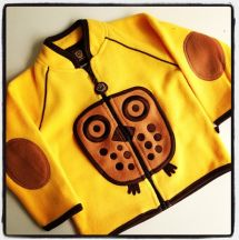 Fleece Jacket Yellow - Geel Vest Uil