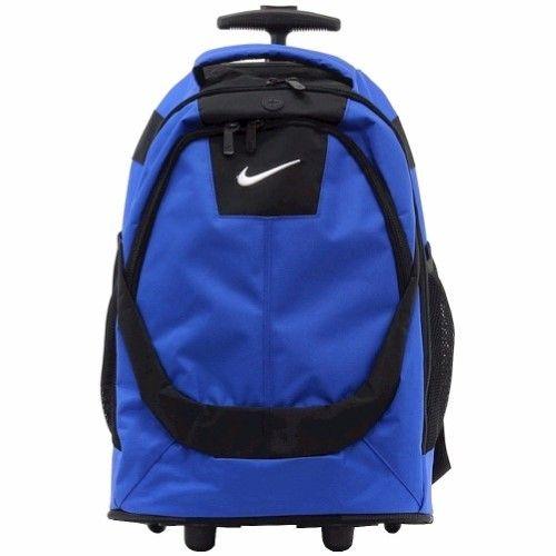 Nike 9A2215 Core Game Royal/Black Rolling Backpack 19' School Bag