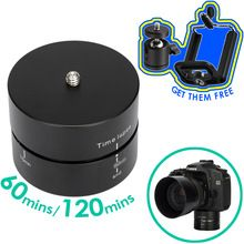 360 Degree Rotation Mount 60 120 Minutes Time lapse Panorama Pan Head for Smart Phone GoPro Light DSLR Camera 3kg Capacity