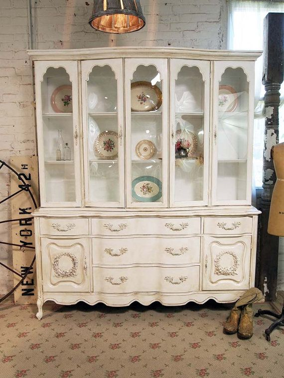 Painted Cottage Chic Shabby White Romantic Tea by paintedcottages, $595.00: Dining Room, Cottage Chic, Shabby White, Painted Cottage, White Romantic, Chic Shabby