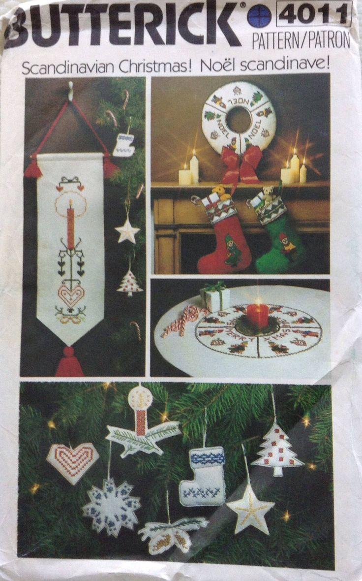 Scandinavian Christmas accessories Butterick pattern by Followlight on Etsy