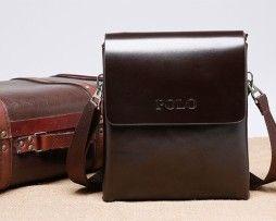 Kožená elegantná taška cez rameno POLO pre pánov (9)