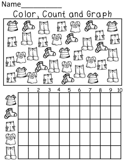 clothes graph worksheet