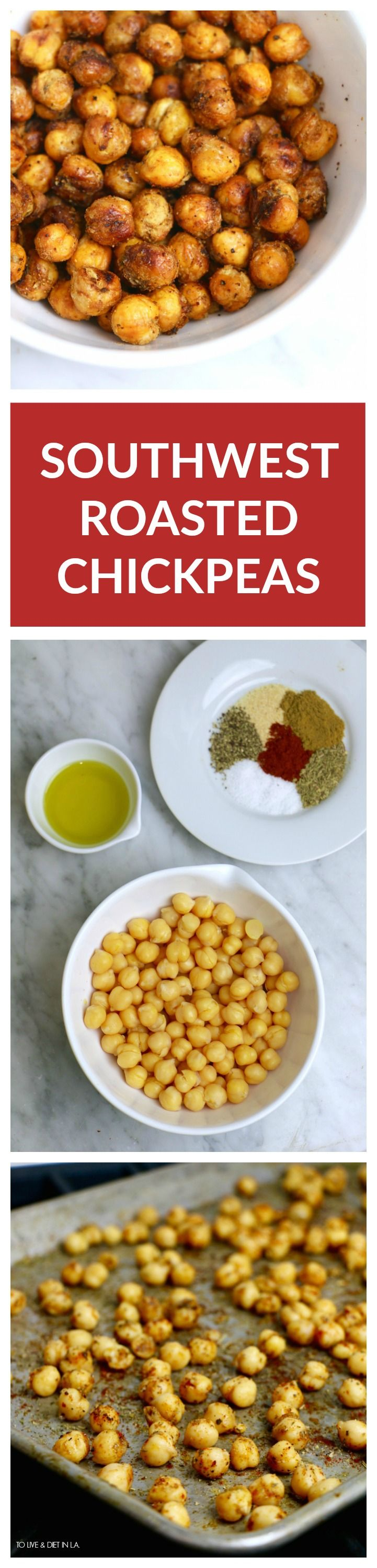 Southwest Roasted Chickpeas - easy, delicious + nutritious! A great post-workout protein snack. @swbeans #beanfit #fitfluential #ad
