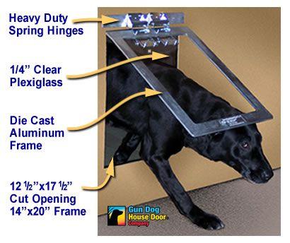 Chew proof metal heavy duty dog door by Gun Dog House Door Co.