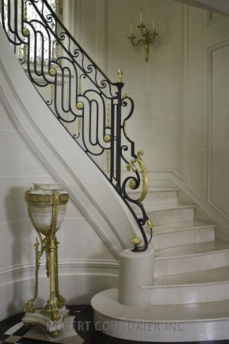 Beautiful railing detail in an 18th Century House