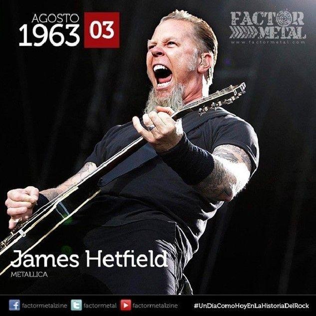 #UnDiaComoHoyEnLaHistoriaDelRock nace en 1963 James Hetfield músico estadounidense conocido por ser el vocalista y guitarrista rítmico de #Metallica además de ser su compositor principal y co-fundador. Obtuvo el lugar número 87 en la listaTop 100 Greatest Guitarists por la revista Rolling Stone. #hbd #FactorMetal