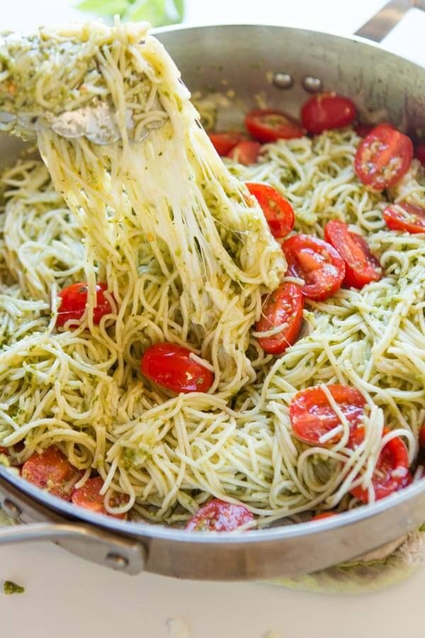 Need dinner on the table in 20 minutes? We've got a 20 minute cheesy pesto pasta recipe that's quick and easy to make and it's a great special diets recipe.