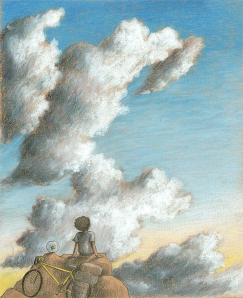"""CLOUDS"", illustration by Sarah Khoury, 2013. Personal project for a picture book"