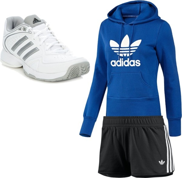 """Adidas jogging outfit"" by ajflymax ❤ liked on Polyvore"
