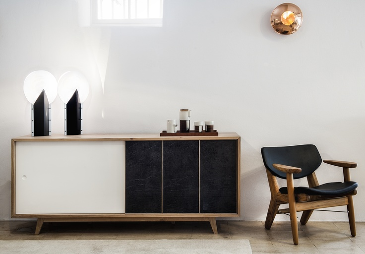 Sideboard designed by #WEWOODdesigncenter Photo taken in #PatriaInteriores in Lisbon #design #store #furniture