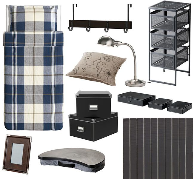 """Just because you're a guy, doesn't mean your room needs to look like the stereotypical """"dude room"""". With a few simple touches and a common color palette, your space can be organized and stylish in no time!"""