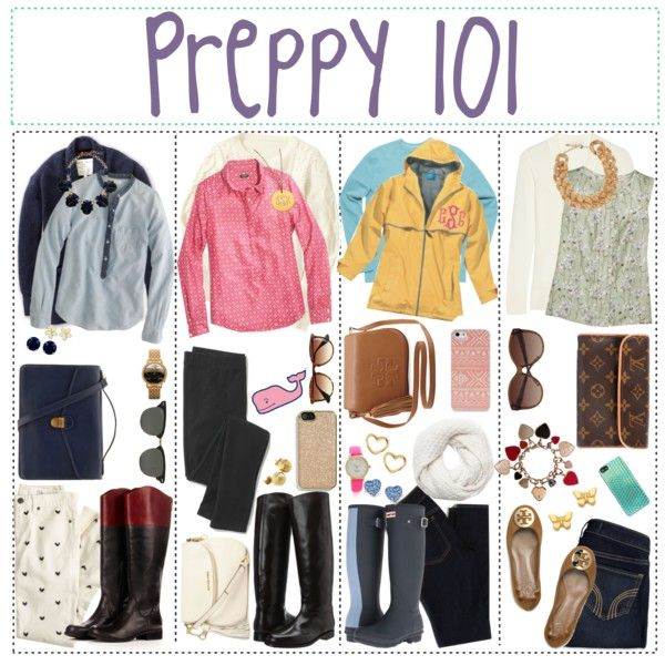 Preppy College Outfits | fashion look from December 2013 featuring J.Crew tops, Tory Burch ...