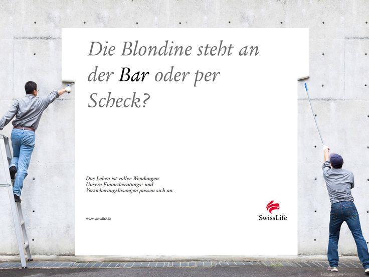 Die Blondine steht an der BAR oder per Scheck? #wendesatz