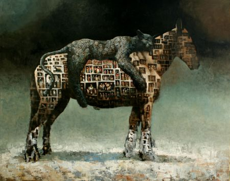 Extension. Acrylic and oil on canvas. 200cm x 250cm 2010. Samuli Heimonen
