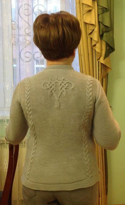 Pletení: šedé tričko - maomao - moje srdce akce