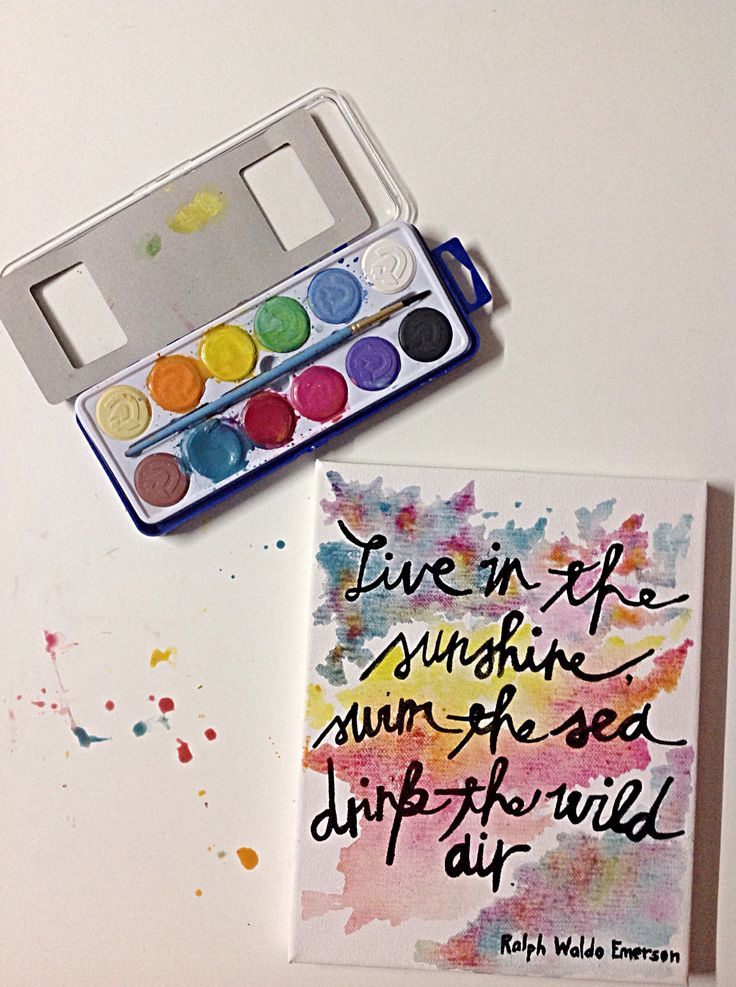 DIY quote on canvass. Inexpensive and a fun way to add color to a room