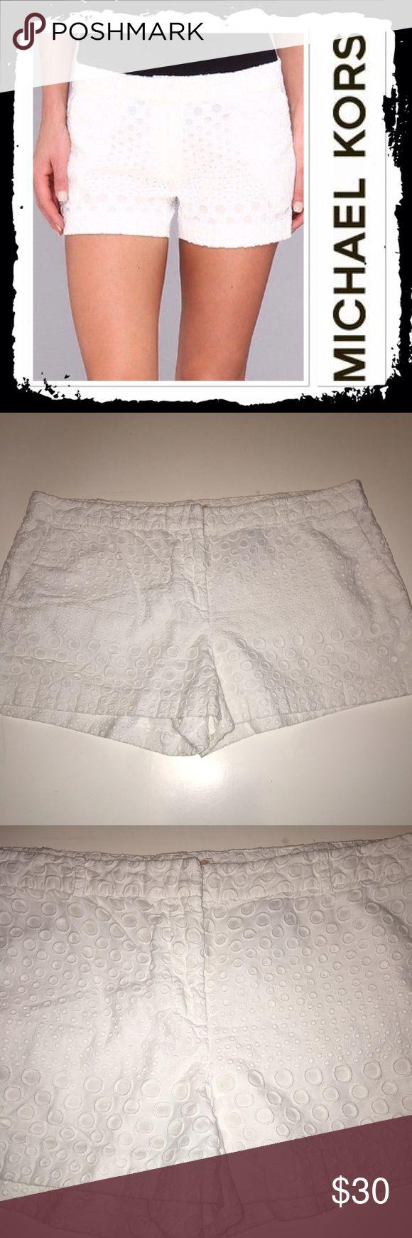 Michael Kors white eyelet shorts Size 16 gorgeous white eyelet shorts in excellent condition Michael Kors Shorts