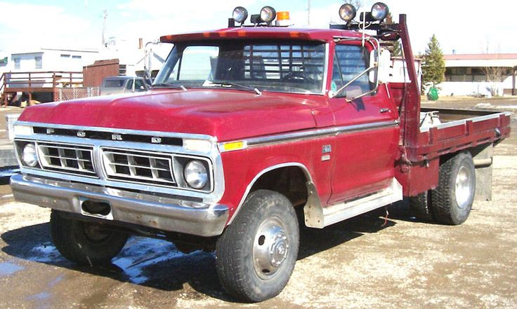 flat bed ford trucks | 1976 Ford F-250 Ranger 4X4 Flatbed Work Truck For Sale left front view