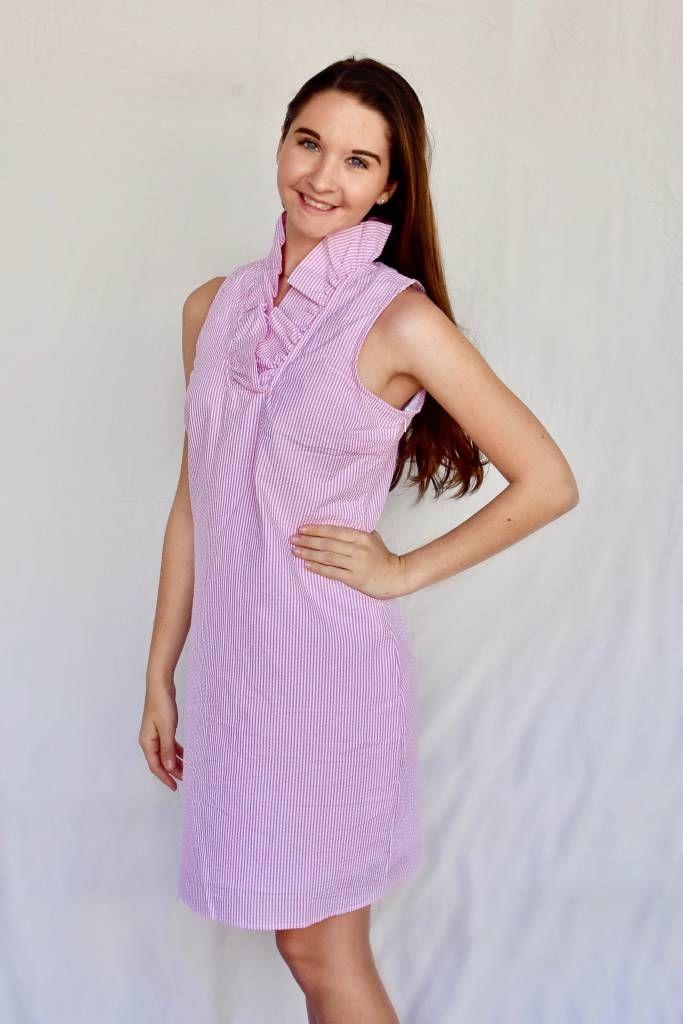 b421434734c8 pink seersucker dress