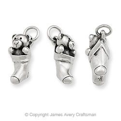 Teddy Bear in Stocking Charm from James Avery Jewelry