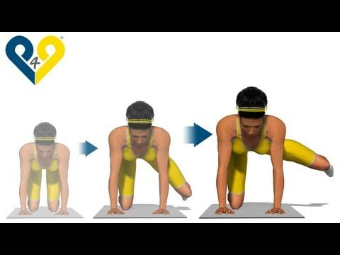 ▶ Best buttocks exercises: Side Kick with Bent Knee - Provides very good instruction for doing this exercise correctly and illustrates targeted muscle.