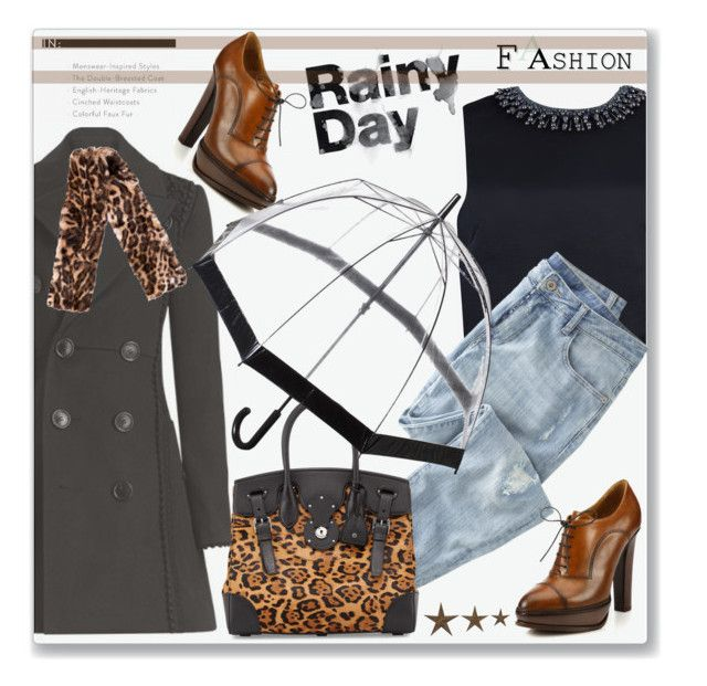 """""""Rainy day fashion"""" by jan31 ❤ liked on Polyvore featuring Burberry, Ted Baker, Wrap, Ralph Lauren, Fulton, Ralph Lauren Collection and Identity"""