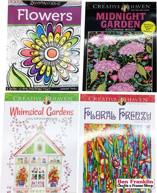 Flowers Coloring Books Including Zenspirations Sold Out Midnight Garden Whimsical Gardens