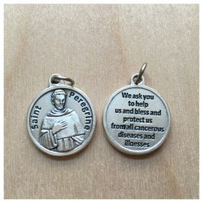 St. Peregrine Saint Medal/ Patron Saint Of Cancer/ Add on