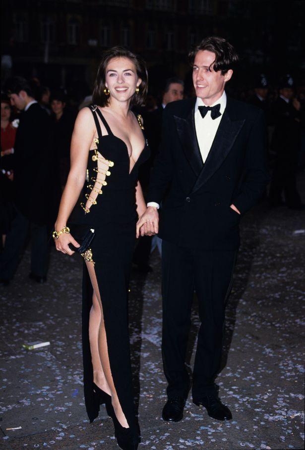Elizabeth Hurley In Versace Dress And The Four Weddings And A