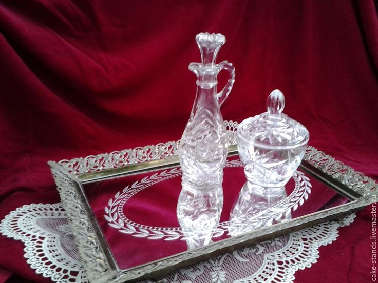 Купить Зеркальный Поднос для туалетного столика, Винтаж США - золотой, викторианский стиль, зеркало