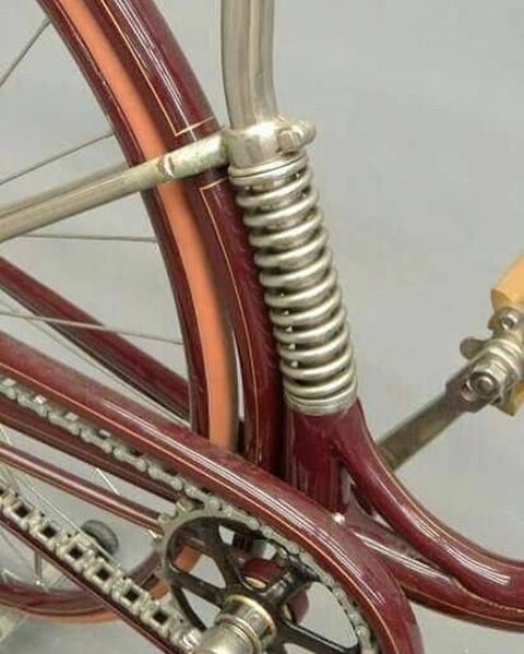 Bike suspension 1890 style