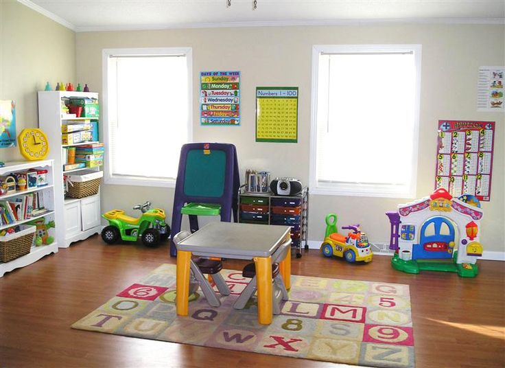 toddler playroom ideas. Like the chart ideas for the learning area