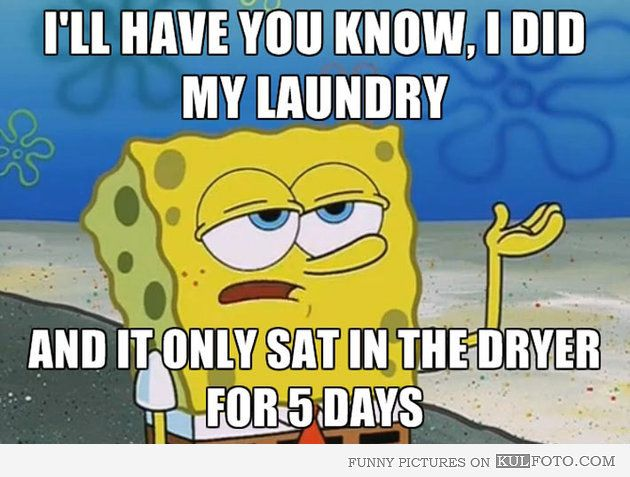 I'll have you know, I did my laundry -- featured on womanlywoman.com
