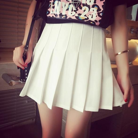 S/M/L I am your White Summer Tennis Skirt KW152308
