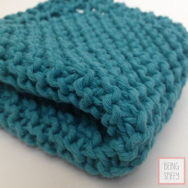 Pattern Knitted Dishcloth : Grandmas Favorite Knit Dishcloth Pattern
