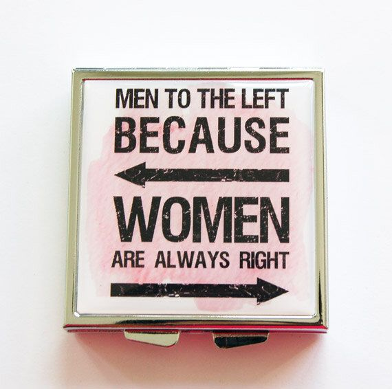 Funny pill box, Pill case, Pill box, Funny pill case, Pill Case for purse, 4 Sections, Square Pill box, Humor, Women are always right (4066) by KellysMagnets on Etsy https://www.etsy.com/listing/187532505/funny-pill-box-pill-case-pill-box-funny