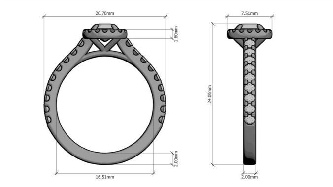 Classical Halo Ring | 3D Print Model | Halo rings, 3d