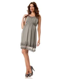 Sleeveless Embellished Maternity Dress