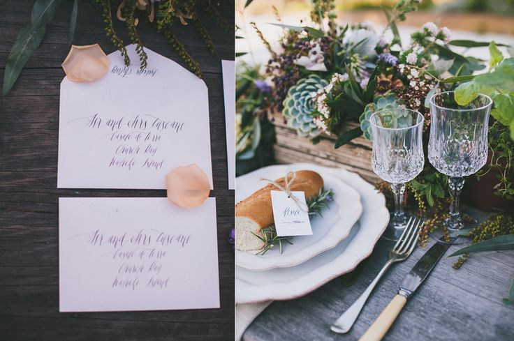 Tuscan Styled Shoot at Casale di Terra, Waiheke Island New Zealand with Truly and Madly Blog. Tuscan Sun Wedding Invitations