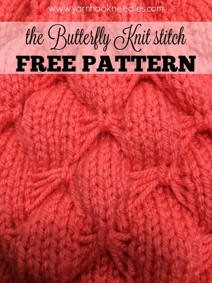 Knitting Butterfly Stitch Pattern : Oltre 1000 immagini su Knitting stitches su Pinterest Cucitura muschio, Pun...