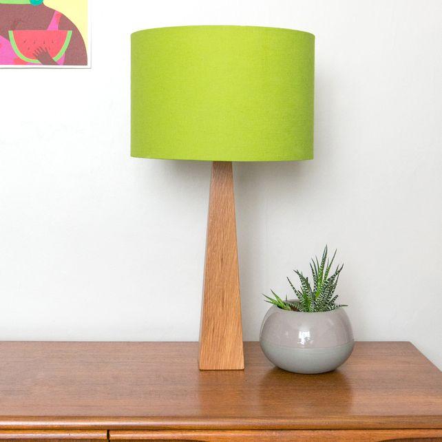Lime Green Oak Table Lamp £75.00