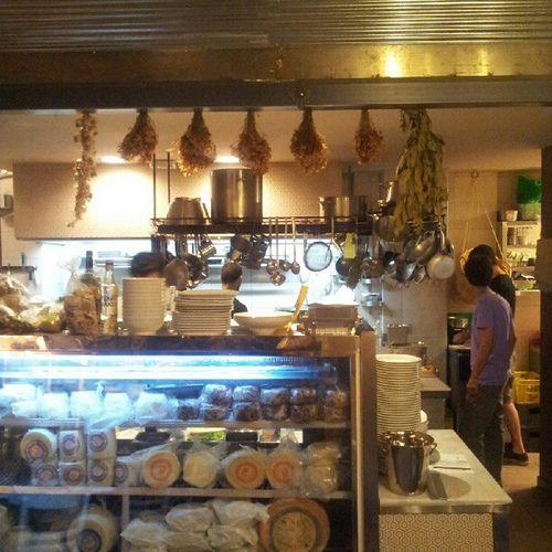The open kitchen at Empargko thessaloniki