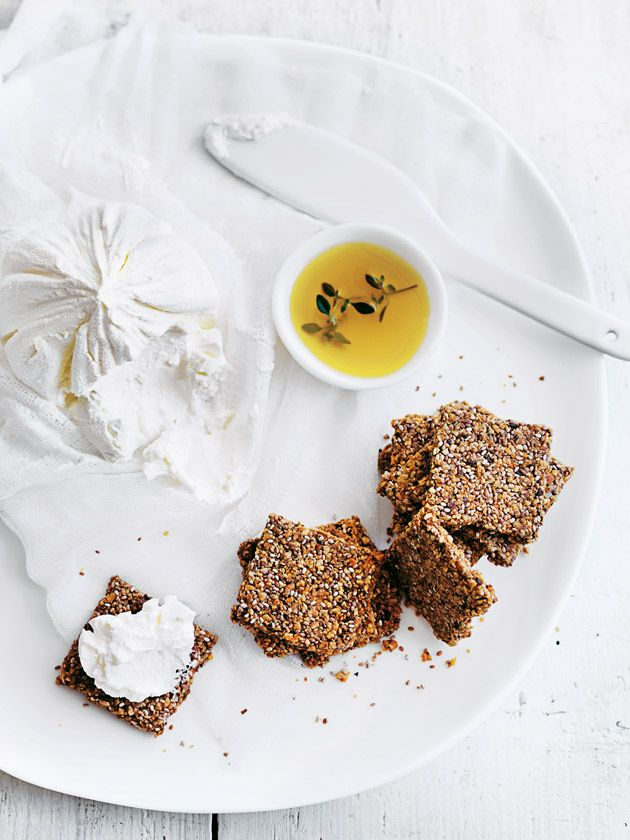rosemary, chia and parmesan crackers from donna hay Fresh + Light issue 4