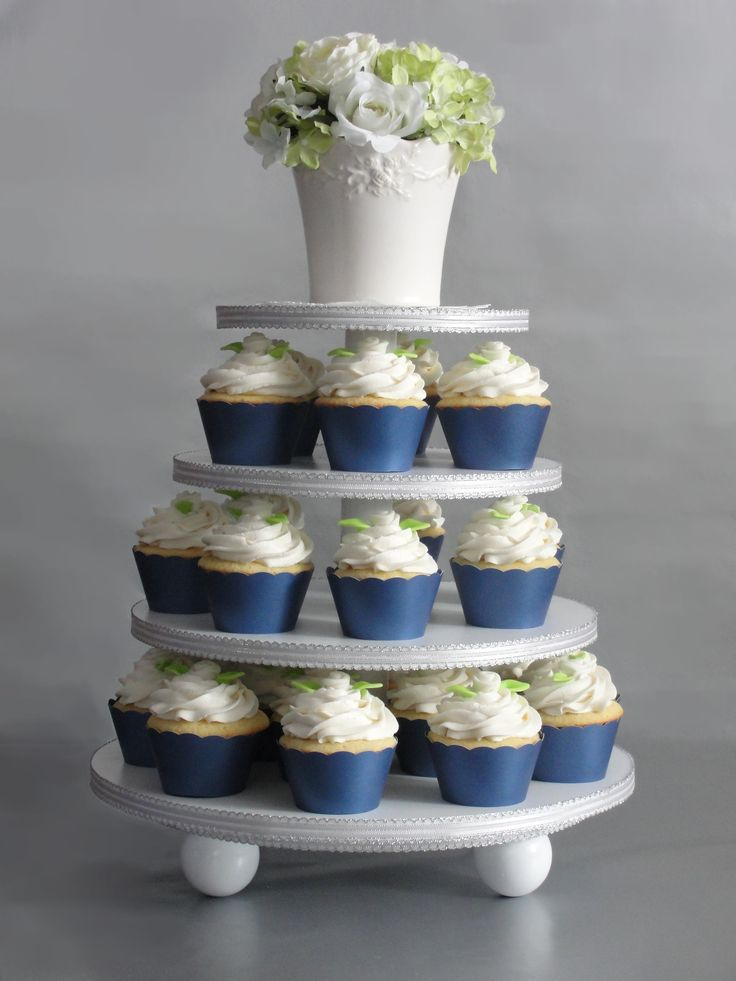 wedding shower poem ideas%0A Bridal Shower Cupcake Ideas   Bridal Shower cupcakes done in a silver and  midnight blue theme
