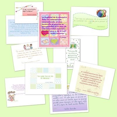 Recursos educativos: Frases educativas motivadoras Hemos recopilados frases educativas ideales para decorar el aula y motivar en la difícil tarea diaria de