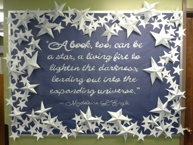 Winter library bulletin board 2014/2015